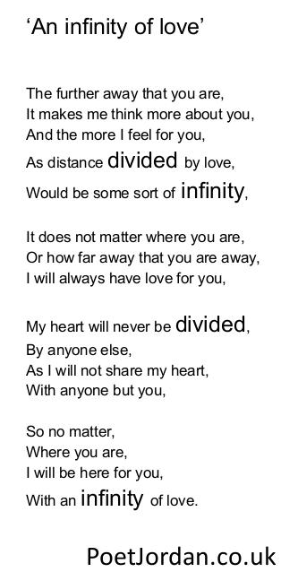 25. An infinity of love Poet Jordan Volume 30