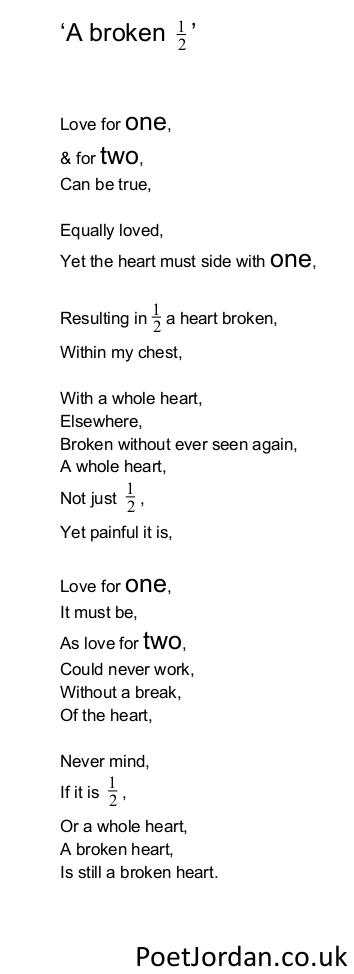 26. A broken half Poet Jordan Volume 30