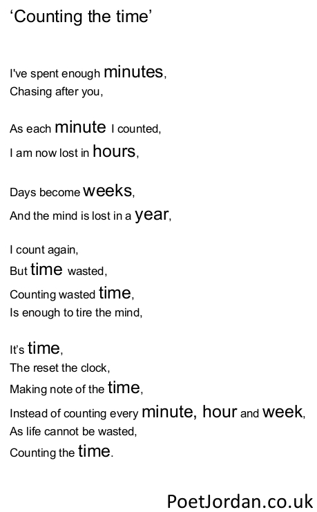 27. Counting the time Poet Jordan Volume 30