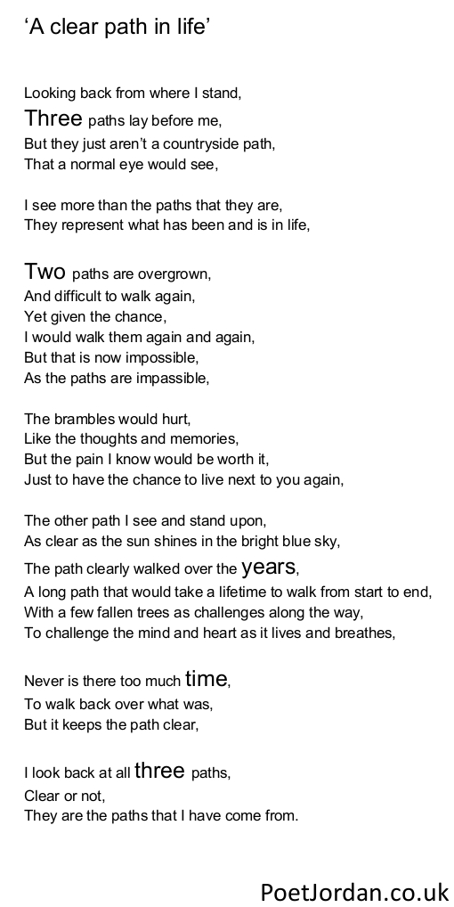 30. A clear path in life Poet Jordan Volume 30
