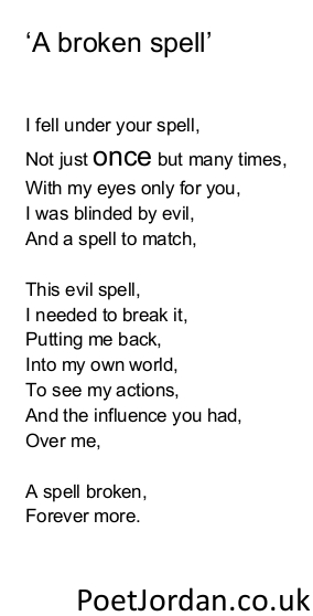 5. A broken spell Poet Jordan Volume 30