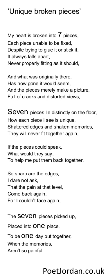 6. Unique broken pieces Poet Jordan Volume 30