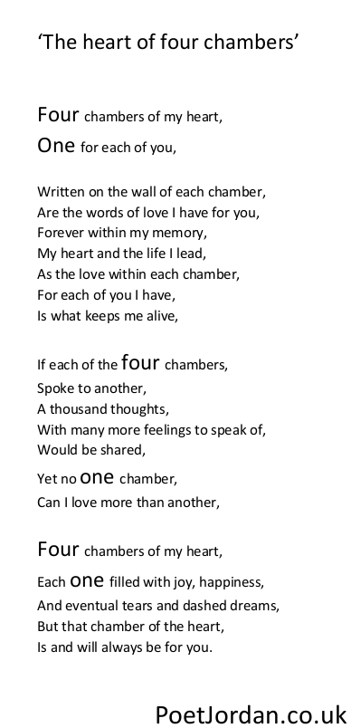 7. The heart of four chambers Poet Jordan Volume 30