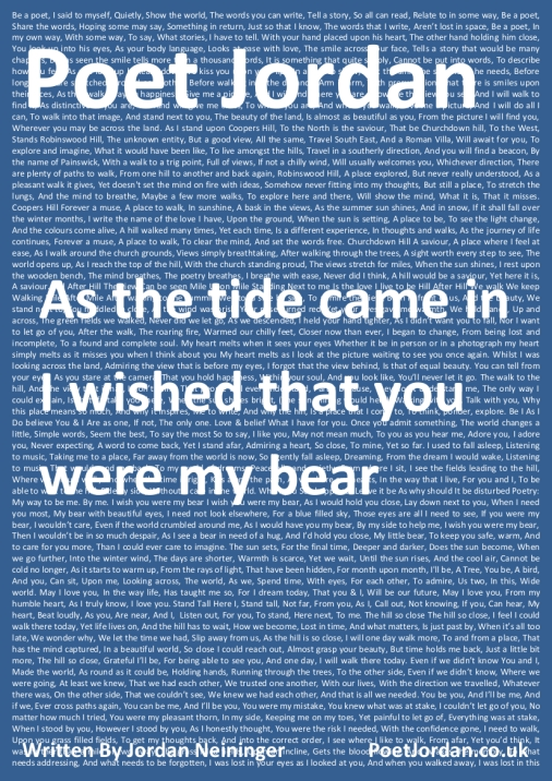 Poet Jordan Volume 32 - As the tide came in I wished that you were my bear