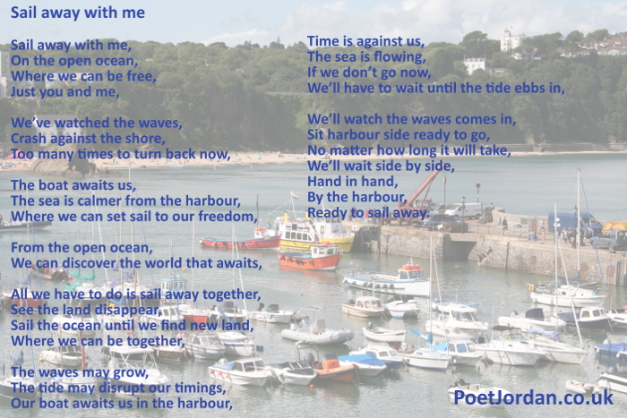 18 Sail away with me Poet Jordan Volume 23