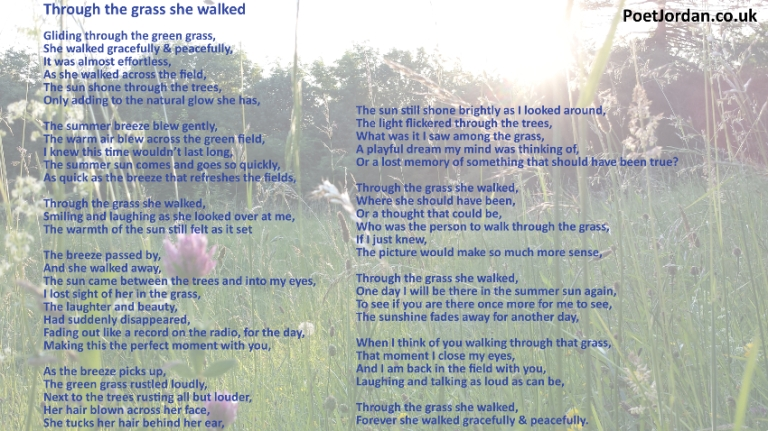 24 Through the grass she walked Poet Jordan Volume 23