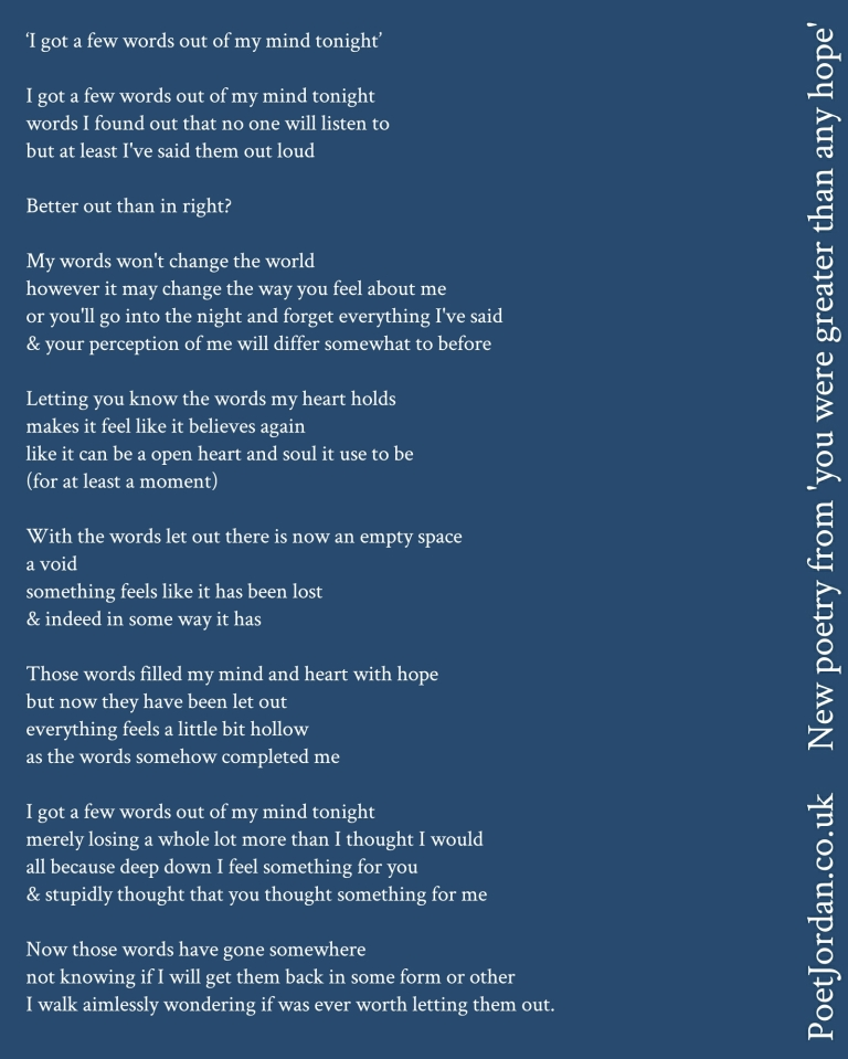 Poet Jordan - I got a few words out of my mind tonight Volume 44.jpg