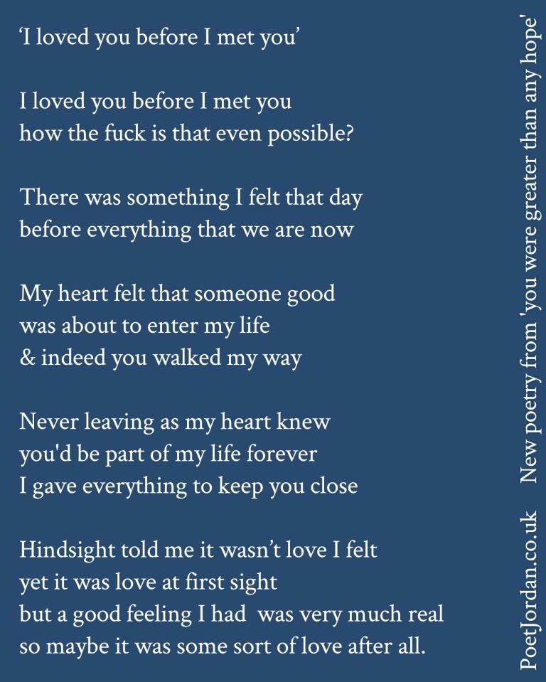 Poet Jordan I loved you before I met  you Volume 44.jpg